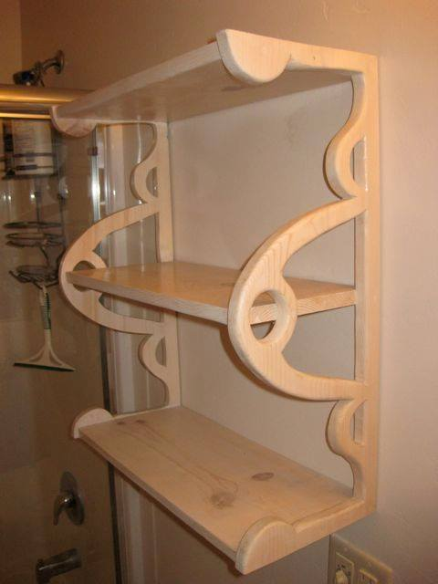Bathroom Shelf designed and fabricated by Francis Koerber
