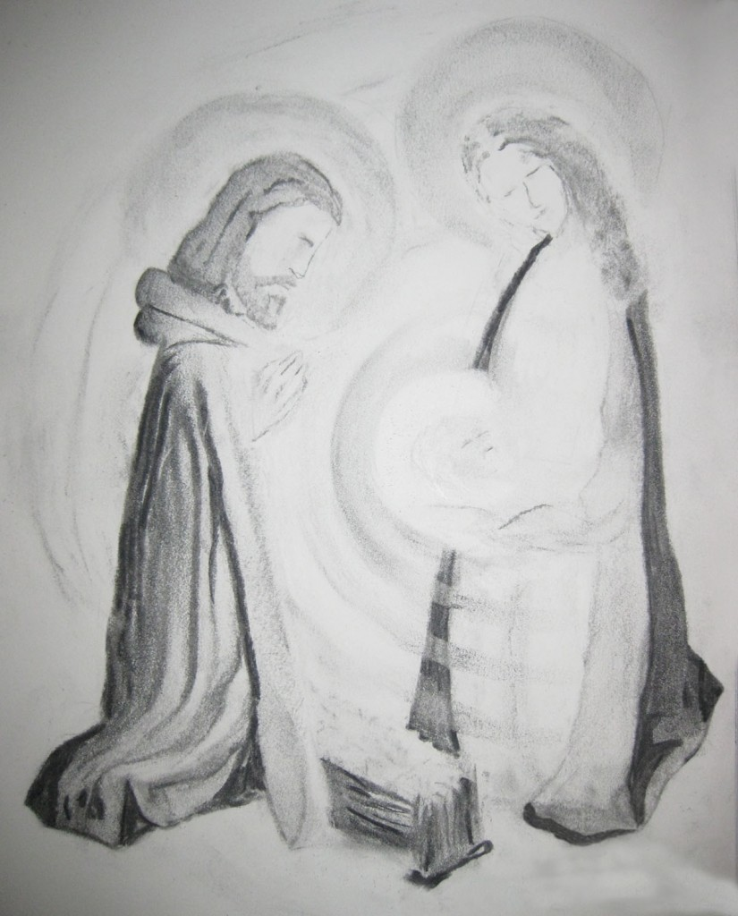 Nativity : illustration by Francis Koerber