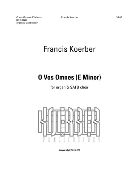 O Vos Omnes, title page to a work by Francis Koerber