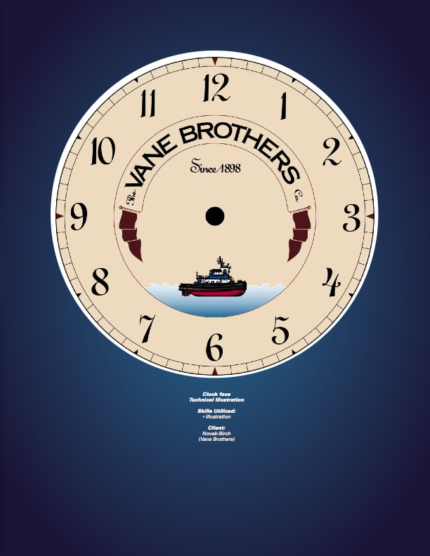 Vane Brothers Clock Face