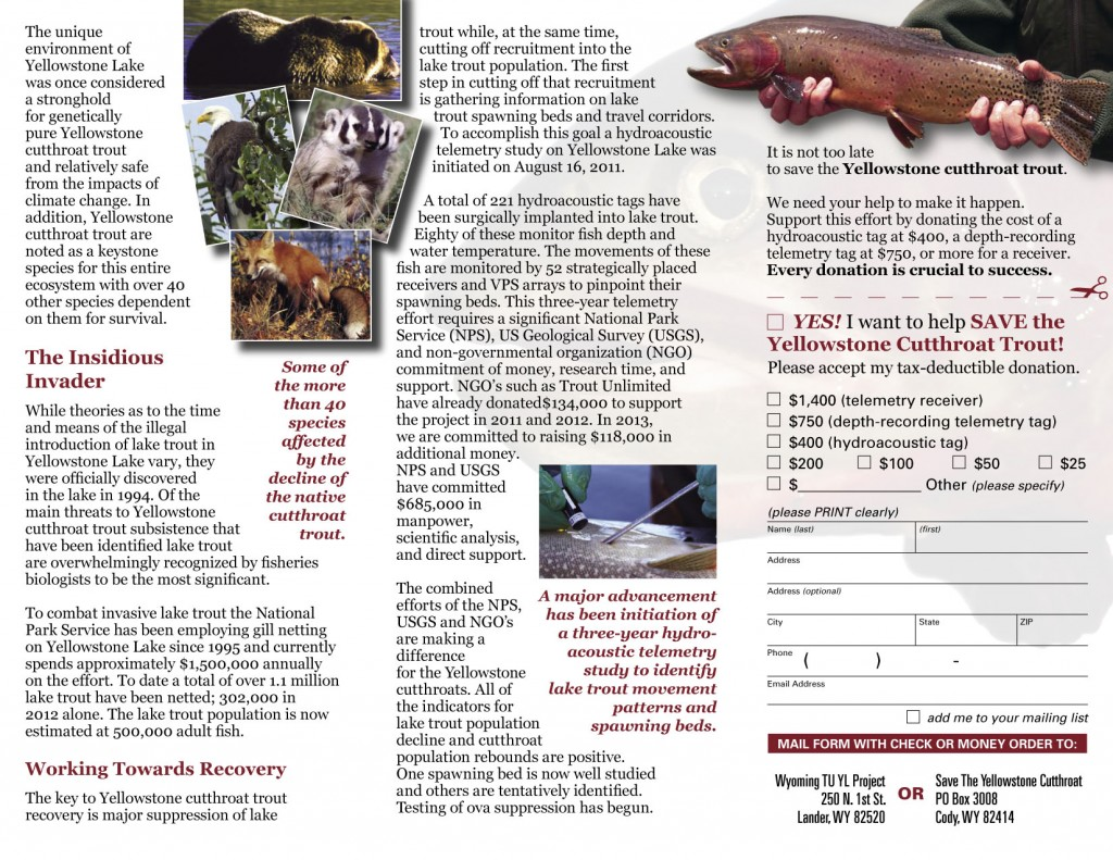 Wyoming Trout Unlimited Brochure (inside)