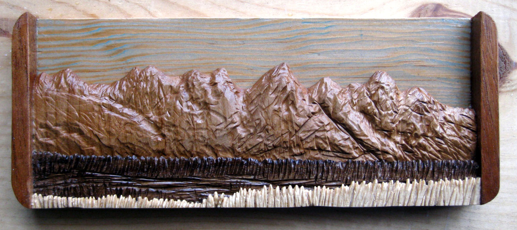 Teton Mountains Miniature